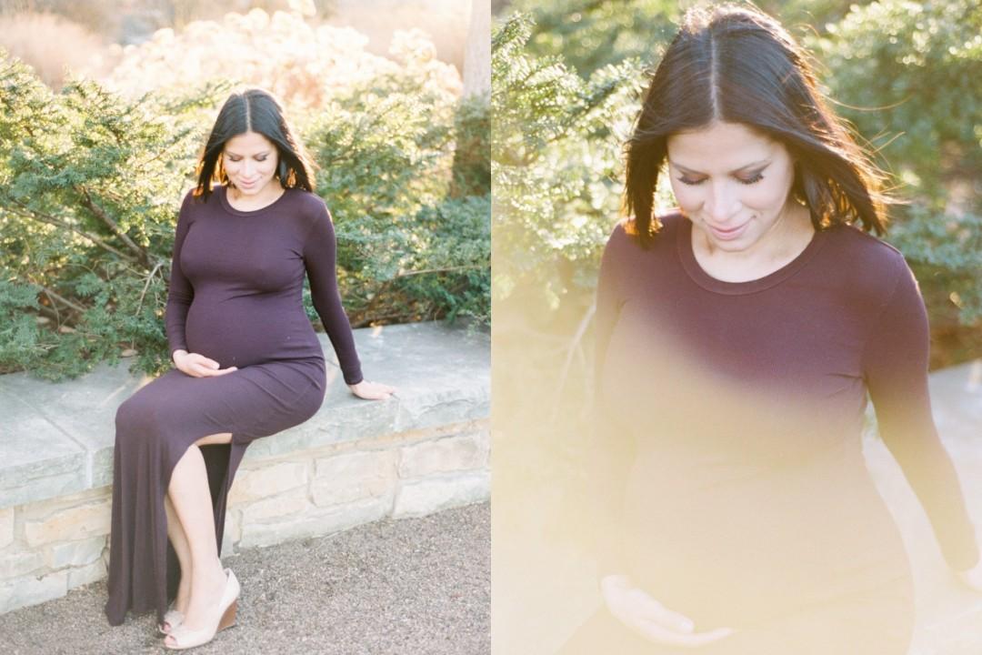 The Morton Arboretum Maternity Session   Film Photography Fuji 400H